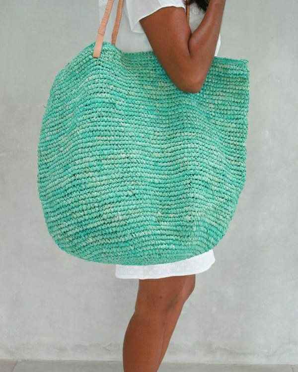 sac de plage en paille
